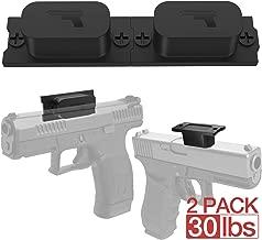 Magnetic Gun Mount & Car Holster 2-Pack 30lbs HQ Rubber Coated Magnetic Gun Mount for Handgun, Shotgun, Pistol. Easy Conceal in Car, Truck, Vehicle, Desks, Safes, Walls