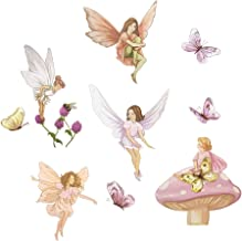 decalmile Fairies Wall Decals with Wings Butterflies Stickers Removable Wall Art for Girls Room Kids Bedroom Nursery Baby ...
