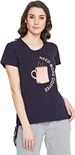 Clovia Women's Cotton Printed T-Shirt