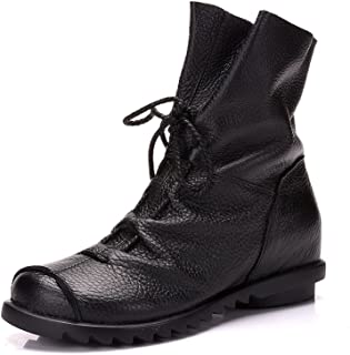 Duberess Women's Casual Lined Snow Boots Flat Booties Warm Winter Boots for Women