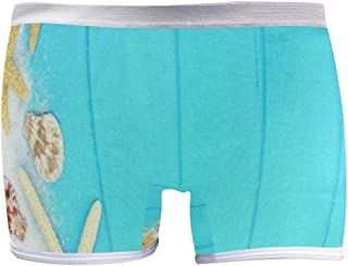 SLHFPX Star Fish On Blue Background Boyleg Panties Womens Boyshort Underwear Soft Boxer Briefs Boy Shorts