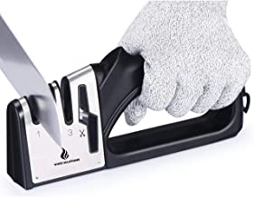 WhizzSolutions 3 Stage Knife Sharpener with Scissor Sharpener, Kitchen Tools and Gadgets, Knife Sharpening Tools and Acces...