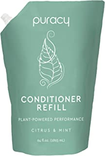 Puracy Natural Conditioner Refill, 64 Ounce, Reformulated for All Hair Types, Silicone-Free, Salon Grade, 1/2 Gallon