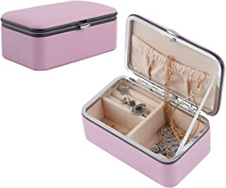 Vetoo Jewelry Box for Women Travel Jewelry Organizer for Necklace Earring Rings Sparkle Jewelry Holder Case Storage Case, Pink