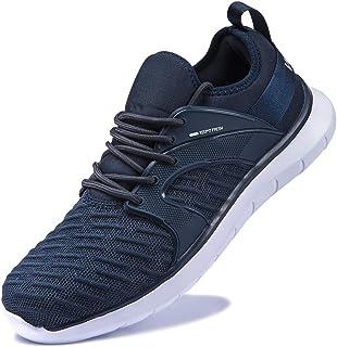 Anbenser Mens Walking Shoes Lightweight Knit Casual Shoe Comfort Elastic Sock Slip On Fishbone Type Non- Slip Sole
