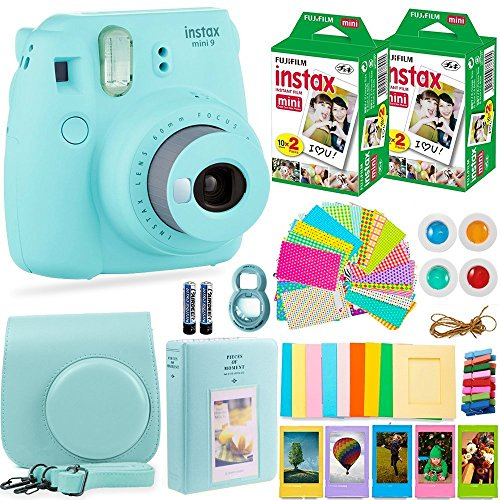 Fujifilm Instax Mini 9 Camera with Fuji Instant Film (40 Sheets) & Accessories Bundle Includes Case,...