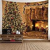KnBoB Tapiz Pared Decorativo Calcetines Vela Árbol de Navidad...