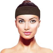 TopWigy Wig Comfort Band Velvet Wig Grip Band Adjustable Non Slip Headband Brown