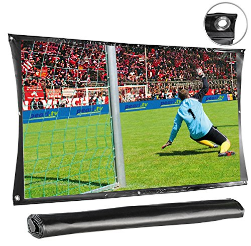 SceneLights Beamer Leinwand: Portable Leinwand Cinema 218 cm (85,8