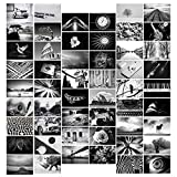 Black & White Picture Wall Collage Kit Aesthetic Room Decor   Cute Photo Collage Kit for Wall Aesthetic - 50 Prints 4x6 inch Set   Black and White Collage Kit for Wall Aesthetic Posters for Bedroom