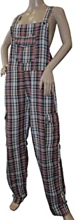 Shiva Betelgeuse Funky Chequered Cotton Combat Dungarees - Nepalese Brightly Coloured Dungarees