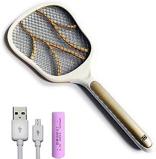 Chlry Mata Mosquitos electrico Raqueta, con batería de Litio extraíble de 1800 mAh, Interfaz USB, Recargable, Matamoscas Electrico Mata Anti Interiores Mosquitos Exterior Interior antimosquitos