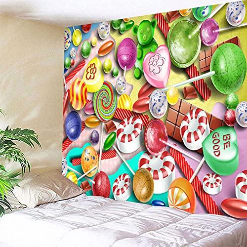 binghongcha Tapiz Lollipop A1080 Arte De Pared Hippie Mandala Bohemio Colgante De Pared Decoraciones Paño De Pared para Dormitorio Sala De Estar Dormitorio Decoración 350(An) X256(H) Cm