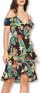 AX Paris Curve Bardot Frill Dress in size/'s  14-32 bnip