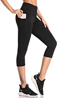 leggings 3/4 damen SIMIYA Damen Leggings, Lang Frauen Sporthose, Stretch und Hohe Taille 3/4 Hose, 1 Pack