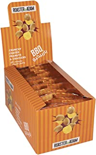 Roaster Adam Crunchy Coated Peanuts And Crackers, BBQ Flavor, 24 x 13 gm