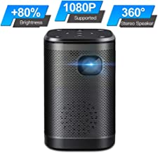 $299 » SEEYING Mini Projector 4500 Lux Portable Movie Projector Support 1080P 120''Display 360°HIFI Speaker 4-Hour Video Playtime Compatible with TV Stick,Wi-Fi,PS4,HDMI,VGA,AV,USB for Anywhere Entertainment