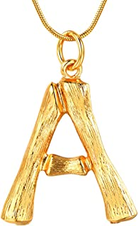Bamboo Initial/Number Necklace/14+2