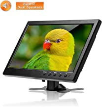 Hikity 10.1 Inch HDMI CCTV Monitor HD 1024X600 LCD Screen with USB HDMI VGA BNC AV Input Speaker Output for PC TV DVR Display CCTV Camera X-Box