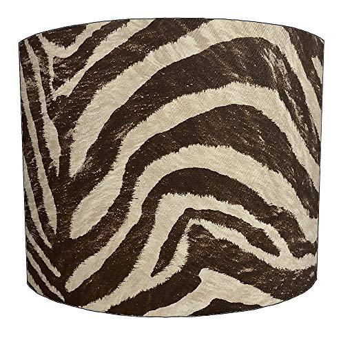8 Inch bruine zebra print Ontwerp Lampenkap Voor een Plafond Licht
