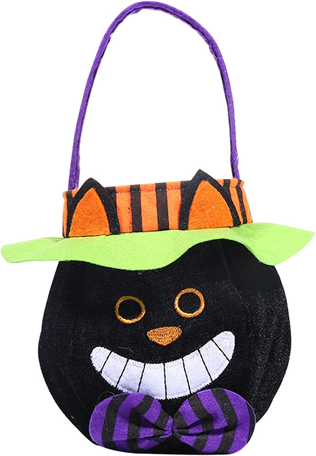 Halloween Candy Pumpkin Bag for Max 51% OFF San Antonio Mall Round Ghos Kids Tote Hooded