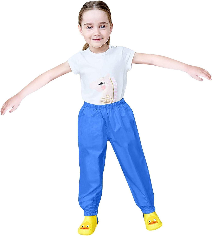 Kids' Waterproof Rain Pants Waterproof Rain Pants Lightweight Single Layer Overpants Rainwear
