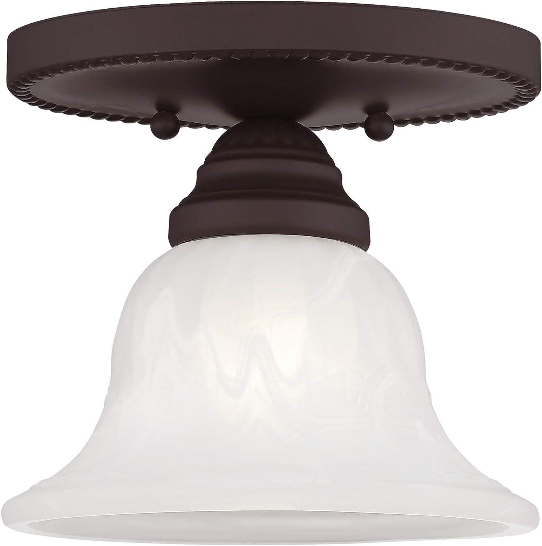 Livex Lighting 1530-07 Edgemont Mount 1-Light Ceiling Bronze 在庫あり まとめ買い特価