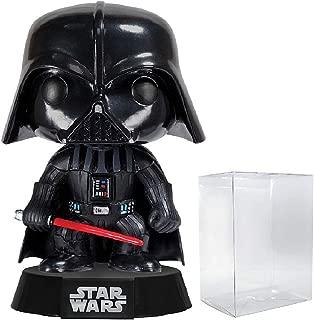 Funko Pop! Star Wars: Classic Darth Vader #01 Vinyl Bobble-Head Figure (Bundled with Pop BOX PROTECTOR CASE)