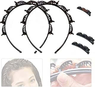 Anyingkai 4PCS Hairpin Headband,Double Bangs Hairstyle Hairpin,Cerchietto a Forcina per Capelli con Doppia Frangia,Hairpin...