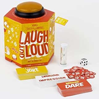Professor Puzzle LAUGH OUT LOUD - Comedy Hilarious Fast Paced Unique Party Game with Button Buzzer, Indoor/Outdoor Fun Gam...