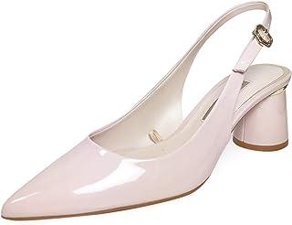 50e6a3e623 Zara Women's Faux Patent Leather Slingback Heels 6208/301