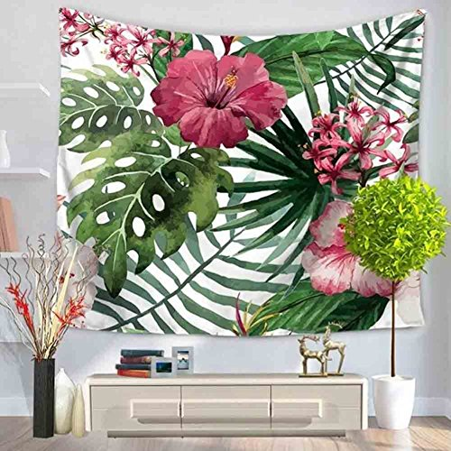 CHGDFQ Palm Leaf - Tapiz decorativo para pared, diseño de selva tropical tropical, 130 x 150 cm / 51 x 59 pulgadas (color: D)