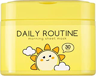 QTBT Daily Routine Morning Face Mask Sheet Hydro Boost, Pack of 30 Sheets, EWG Verified