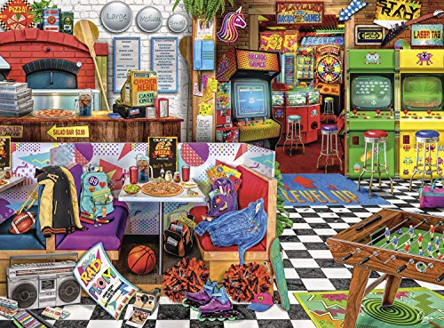 Buffalo Games - Aimee Stewart - Pixels and Pizza - 1000 Piece Jigsaw Puzzle
