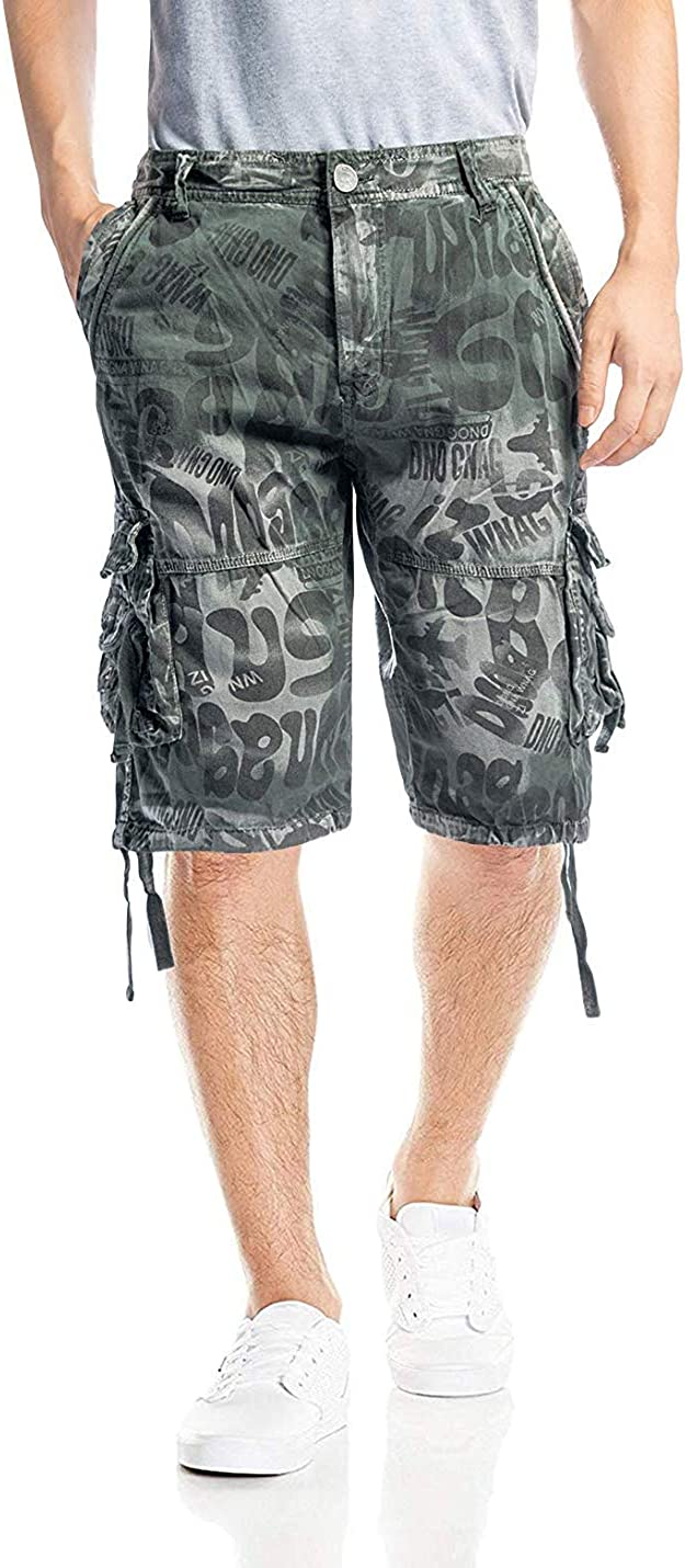 zeetoo Camo Shorts for Men Classic Relaxed Fit Cargo Short Multi-Pocket Outdoor Shorts