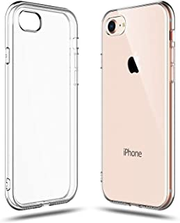 Amfilwac iPhone7/8 ケース 超薄型 全面保護 耐衝撃 指紋防止 黄変防止 高透明感 スマホ TPUシリコン クリア カバー