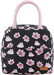 Debispax Lunch Bag Tote Bag Lunch Bag for Women Lunchbox Insulated Lunch Box(8 Color) OneSize Black Pink