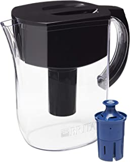 Brita Water Pitcher with 1 Longlast Filter, Large 10 Cup, Black