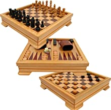 Hey! Play! Deluxe 7-in-1 Game Set - Chess - Backgammon Etc