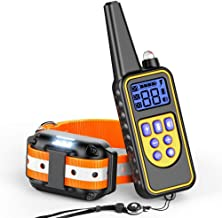 Ace Teah Dog Training Collar, Rechargeable Rainproof 2600ft Remote Range Dog Shock Collar with Beep Vibration Shock, Training Collar Electronic Collar Shock for Small Medium Large Dogs with LED Light