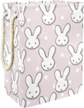 Laundry Basket Cute Rabbit Muzzles and Polka DotsCollapsible Laundry Hamper for Bathroom Bedroom Home Toys and Clothing Or...