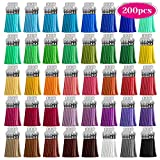Tassels, Cridoz 200pcs Leather Keychain Tassels Bulk for Crafts, Keychains Supplies, Acrylic Keychain Blanks, Charms, Earrings, Bracelets and Jewelry Making (40 Colors) key bracelet Nov, 2020