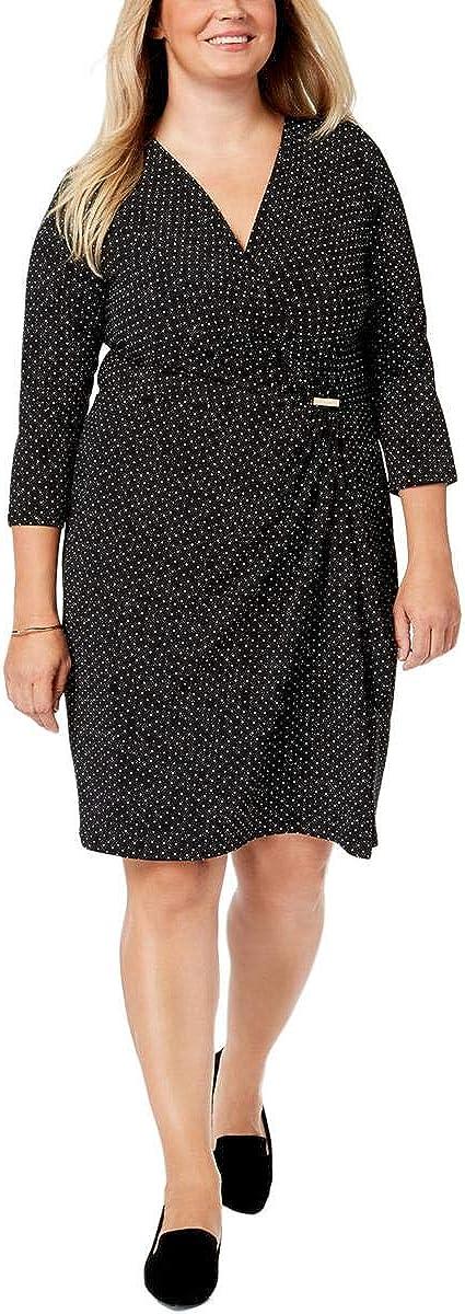 Charter Club Plus Size Dress Dot-Print Faux Wrap Max Ranking TOP17 76% OFF