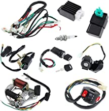 Annpee Full Electrics Coil CDI Wiring Harness Loom kit CDI Coil Magneto Kick Start Engine for 50cc 70cc 90cc 110cc 125cc ATV Quad Bike Buggy Go Kart Pit Dirt Bikes