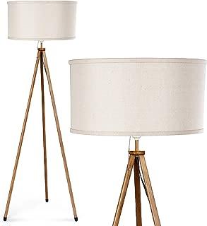 Tripod Floor Lamp - Albrillo Modern Standing Reading Lamp with E26 Lamp Base for Living Room Bedroom Office, Beige Shade