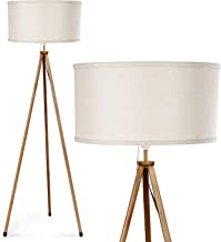 Tripod Floor Lamp - Albrillo Modern Standing Reading Lamp with E26 Lamp Base for Living Room Bedroom Office, Beige Shade