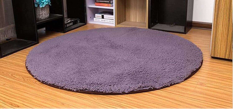 Sofa Coffee Room Bedroom Bedroom Bedside carpet, Modern Full Floor Living Room carpet, Soft Fiber Cotton carpet (color   Purple, Size   80 cm)