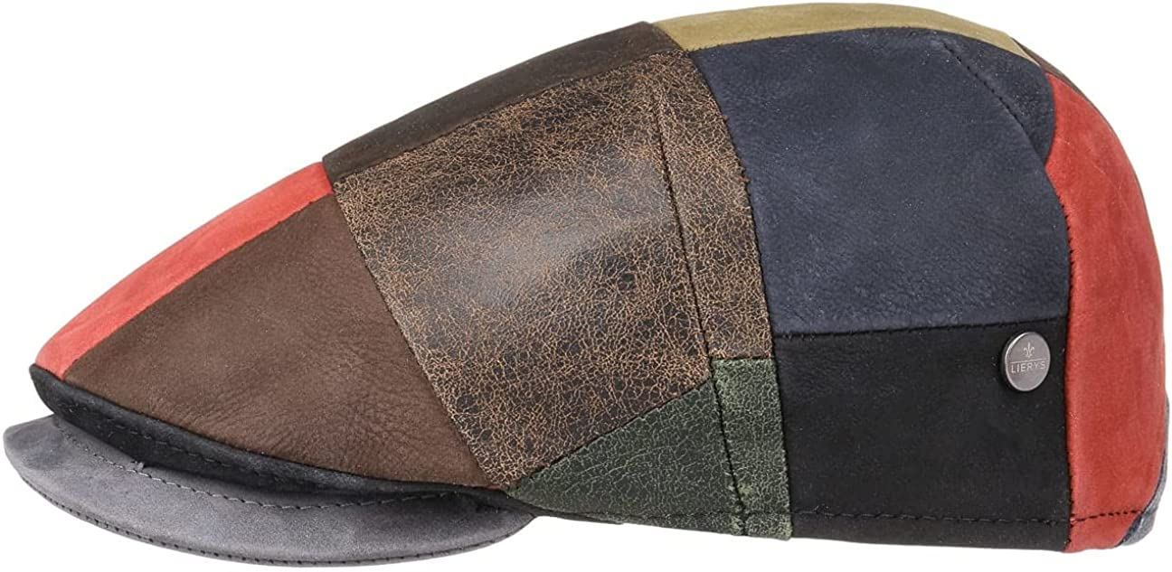 Lierys Capri Bic Leather Patchwork Flat - quality assurance Men Ranking TOP9 in Cap Made Italy
