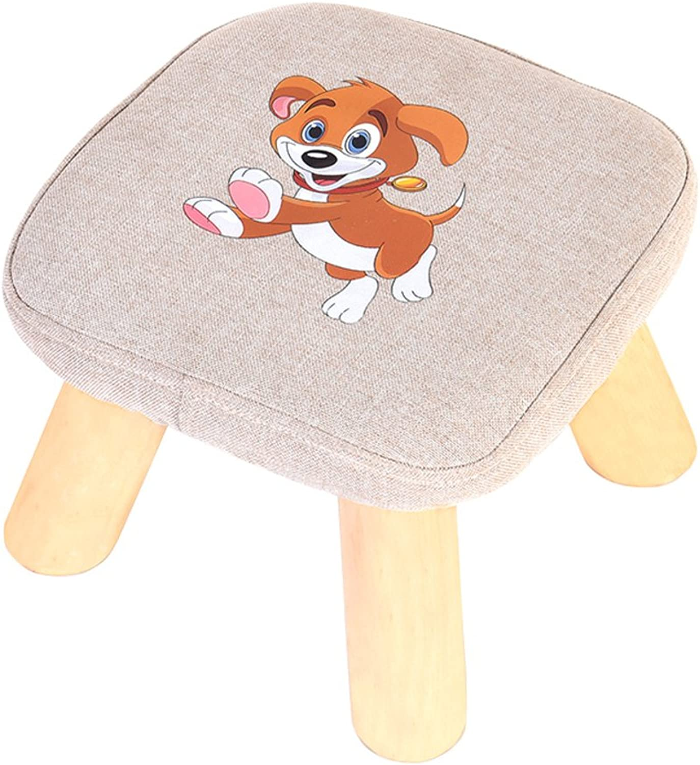 Household use Small Stool Solid Wood Fashion Creative Round Stool Living Room Fabrics Sofa Stool Changing shoes Stool-L