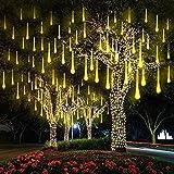 EEIEER Luci Della Pioggia di Meteore , 30cm 8Tubo 192 LED Meteor Luci Natale Luci, Impermeabili Meteor Shower Light per Festa di Nozze Decorazione All aperto (Bianco Caldo)